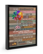 JUST DO YOUR BEST - BEST GIFT FOR GRANDDAUGHTER 11x14 Black Floating Framed Canvas Prints thumbnail