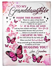 "I BELIEVE IN YOU - GRANDMA TO GRANDDAUGHTER Small Fleece Blanket - 30"" x 40"" front"