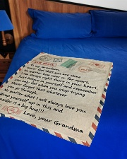 "A BIG HUG - GRANDMA TO GRANDSON Small Fleece Blanket - 30"" x 40"" aos-coral-fleece-blanket-30x40-lifestyle-front-02"