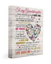 LOVE AND GOODNESS - AMAZING GIFT FOR GRANDDAUGHTER 11x14 Gallery Wrapped Canvas Prints front