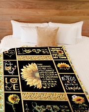 """I AM THE STORM - PERFECT GIFT FOR GRANDMA Large Fleece Blanket - 60"""" x 80"""" aos-coral-fleece-blanket-60x80-lifestyle-front-02"""
