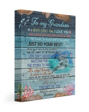 JUST DO YOUR BEST - BEST GIFT FOR GRANDSON 11x14 Gallery Wrapped Canvas Prints front