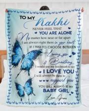 "I LOVE YOU - AMAZING GIFT FOR KAKHI Large Sherpa Fleece Blanket - 60"" x 80"" aos-sherpa-fleece-blanket-60x80-lifestyle-front-23"