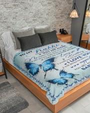 "I LOVE YOU - AMAZING GIFT FOR KAKHI Large Sherpa Fleece Blanket - 60"" x 80"" aos-sherpa-fleece-blanket-lifestyle-front-04"