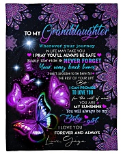 """BUTTERFLY WAY BACK HOME - GAGA TO GRANDDAUGHTER Small Fleece Blanket - 30"""" x 40"""" front"""