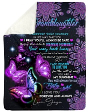 "BUTTERFLY WAY BACK HOME - GAGA TO GRANDDAUGHTER Large Sherpa Fleece Blanket - 60"" x 80"" thumbnail"