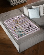 """FOREVER I LOVE YOU - FROM GRANDMA TO GRANDDAUGHTER Small Fleece Blanket - 30"""" x 40"""" aos-coral-fleece-blanket-30x40-lifestyle-front-03"""