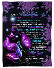 """MY BABY GIRL - GRANDDAUGHTER GIFT WITH BUTTERFLY Small Fleece Blanket - 30"""" x 40"""" front"""