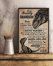 I LOVE YOU - PERFECT GIFT FOR GRANDSON 11x17 Poster lifestyle-poster-3