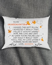HOPE AND LOVE - LOVELY GIFT FOR GRANDDAUGHTER Rectangular Pillowcase aos-pillow-rectangle-front-lifestyle-1