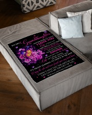 """I LOVE YOU - GRANDDAUGHTER GIFT WITH BUTTERFLY Small Fleece Blanket - 30"""" x 40"""" aos-coral-fleece-blanket-30x40-lifestyle-front-03"""