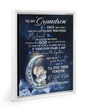 I LOVE YOU - GRANDSON GIFT WITH ELEPHANT 11x14 White Floating Framed Canvas Prints thumbnail