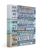 I LOVE YOU - NANOO TO GRANDDAUGHTER 11x14 Gallery Wrapped Canvas Prints front