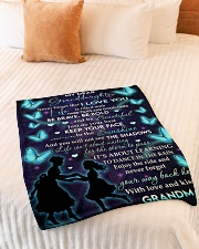 """YOUR WAY BACK HOME - BEST GIFT FOR GRANDDAUGHTER Small Fleece Blanket - 30"""" x 40"""" aos-coral-fleece-blanket-30x40-lifestyle-front-01"""