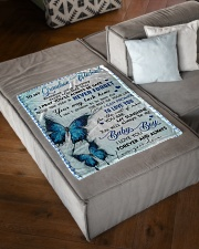 "MY SUNSHINE - GRANDMA TO GRANDSON MICHAEL Small Fleece Blanket - 30"" x 40"" aos-coral-fleece-blanket-30x40-lifestyle-front-03"