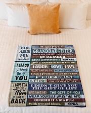"FOLLOW YOUR DREAMS - OMA TO GRANDDAUGHTER Small Fleece Blanket - 30"" x 40"" aos-coral-fleece-blanket-30x40-lifestyle-front-04"