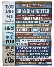 "FOLLOW YOUR DREAMS - OMA TO GRANDDAUGHTER Small Fleece Blanket - 30"" x 40"" front"