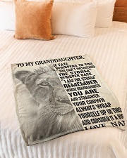 "I AM THE STORM - FROM NANNY TO GRANDDAUGHTER GIFT Small Fleece Blanket - 30"" x 40"" aos-coral-fleece-blanket-30x40-lifestyle-front-01"