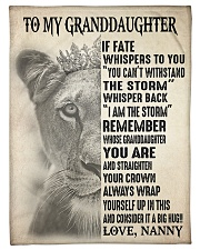 "I AM THE STORM - FROM NANNY TO GRANDDAUGHTER GIFT Small Fleece Blanket - 30"" x 40"" front"