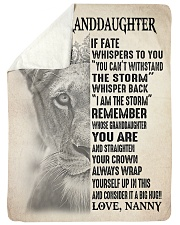 "I AM THE STORM - FROM NANNY TO GRANDDAUGHTER GIFT Large Sherpa Fleece Blanket - 60"" x 80"" thumbnail"