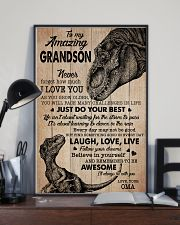 I LOVE YOU - AMAZING GIFT FOR GRANDSON 11x17 Poster lifestyle-poster-2