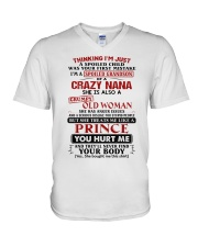 I'M JUST A SPOILED CHILD - BEST GIFT FOR GRANDSON V-Neck T-Shirt thumbnail