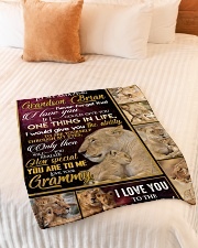 """ONE THING IN LIFE - AMAZING GIFT FOR GRANDSON  Small Fleece Blanket - 30"""" x 40"""" aos-coral-fleece-blanket-30x40-lifestyle-front-01"""