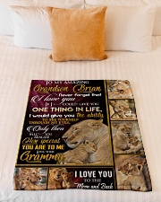 """ONE THING IN LIFE - AMAZING GIFT FOR GRANDSON  Small Fleece Blanket - 30"""" x 40"""" aos-coral-fleece-blanket-30x40-lifestyle-front-04"""