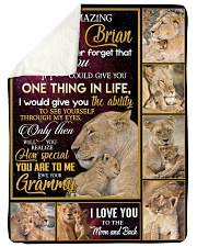 """ONE THING IN LIFE - AMAZING GIFT FOR GRANDSON  Large Sherpa Fleece Blanket - 60"""" x 80"""" thumbnail"""