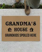"GRANDMA'S HOUSE - PEPFECT GIFT FOR GRANDMA Doormat 22.5"" x 15""  aos-doormat-22-5x15-lifestyle-front-01"
