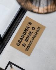 "GRANDMA'S HOUSE - PEPFECT GIFT FOR GRANDMA Doormat 22.5"" x 15""  aos-doormat-22-5x15-lifestyle-front-08"