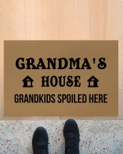 "GRANDMA'S HOUSE - PEPFECT GIFT FOR GRANDMA Doormat 22.5"" x 15""  aos-doormat-22-5x15-lifestyle-front-10"