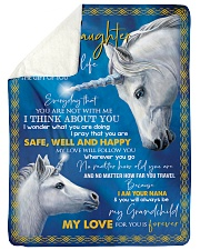 "I THINK ABOUT YOU - NANA FROM GRANDDAUGHTER Large Sherpa Fleece Blanket - 60"" x 80"" thumbnail"