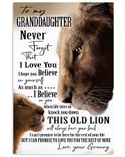 BELIEVE IN YOURSELF - GREAT GIFT FOR GRANDDAUGHTER 11x17 Poster front