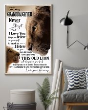 BELIEVE IN YOURSELF - GREAT GIFT FOR GRANDDAUGHTER 11x17 Poster lifestyle-poster-1