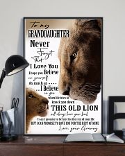 BELIEVE IN YOURSELF - GREAT GIFT FOR GRANDDAUGHTER 11x17 Poster lifestyle-poster-2