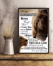 BELIEVE IN YOURSELF - GREAT GIFT FOR GRANDDAUGHTER 11x17 Poster lifestyle-poster-3