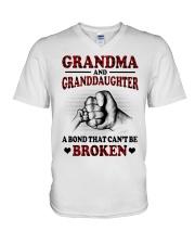PERFECT GIFT FOR GRANDMA V-Neck T-Shirt tile