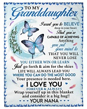 """I LOVE YOU - GRANDDAUGHTER GIFT WITH BUTTETFLY Small Fleece Blanket - 30"""" x 40"""" front"""