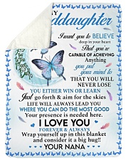 """I LOVE YOU - GRANDDAUGHTER GIFT WITH BUTTETFLY Large Sherpa Fleece Blanket - 60"""" x 80"""" thumbnail"""