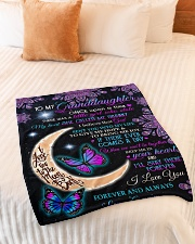 """KEEP ME IN YOUR HEART-FROM GRANNY TO GRANDDAUGHTER Small Fleece Blanket - 30"""" x 40"""" aos-coral-fleece-blanket-30x40-lifestyle-front-01"""