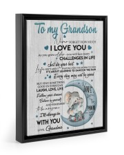 BELIEVE IN YOURSELF - BEST GIFT FOR GRANDSON 11x14 Black Floating Framed Canvas Prints thumbnail