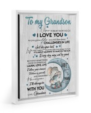 BELIEVE IN YOURSELF - BEST GIFT FOR GRANDSON 11x14 White Floating Framed Canvas Prints thumbnail