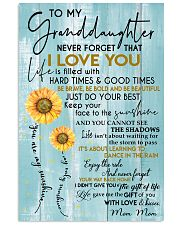 JUST DO YOUR BEST - MOM MOM TO GRANDDAUGHTER 11x17 Poster front