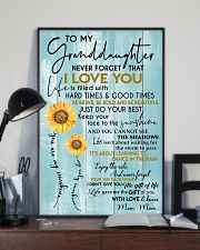 JUST DO YOUR BEST - MOM MOM TO GRANDDAUGHTER 11x17 Poster lifestyle-poster-2