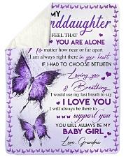 MY BABY GIRL - GRANDMA TO GRANDDAUGHTER Sherpa Fleece Blanket tile