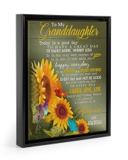 REMEMBER TO BE AWESOME - GIFT FOR GRANDDAUGHTER 11x14 Black Floating Framed Canvas Prints thumbnail