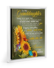 REMEMBER TO BE AWESOME - GIFT FOR GRANDDAUGHTER 11x14 White Floating Framed Canvas Prints thumbnail