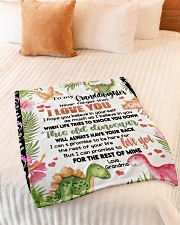 """LOVE YOU - SPECIAL GIFT FOR GRANDDAUGHTER Small Fleece Blanket - 30"""" x 40"""" aos-coral-fleece-blanket-30x40-lifestyle-front-01"""
