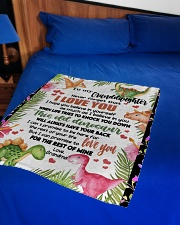 """LOVE YOU - SPECIAL GIFT FOR GRANDDAUGHTER Small Fleece Blanket - 30"""" x 40"""" aos-coral-fleece-blanket-30x40-lifestyle-front-02"""
